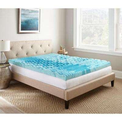 Gel Memory Foam Select 3 In Mattress Topper Queen Simplythecase